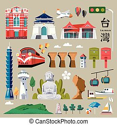 Taiwan tourist promotion - Taiwan travel map, with chinese...