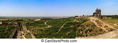 Panorama of Rohtas fortress in Punjab Pakistan - Panorama of...