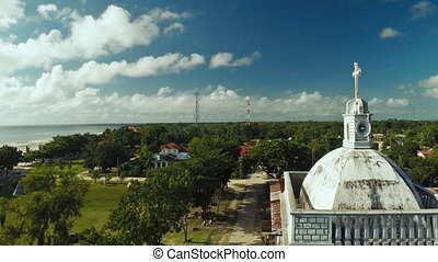 Tower of the Catholic Church. Anda. Pablacion. Bohol island....