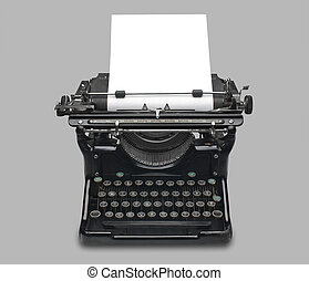 Antique typewriter - old fashioned, vintage typewriter with...