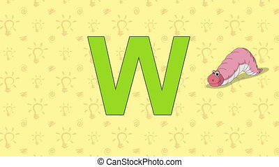 Worm. English ZOO Alphabet - letter W - Animated English ZOO...