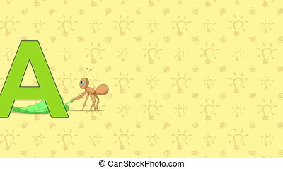 Ant. English ZOO Alphabet - letter A - Animated English...