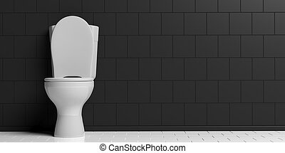 3d rendering toilet bowl