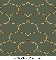 Seamless pattern moroccan vintage style, thin line moroccan...