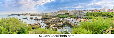 Panoramic view at the Biarritz - France