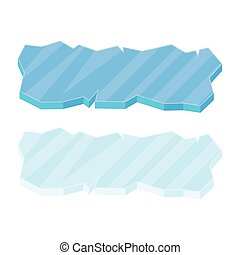 Ice floe icon set - Ice floe icon, symbol, vector...