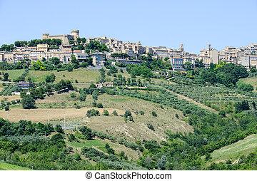 Acquaviva Picena small village on Marche, Italy
