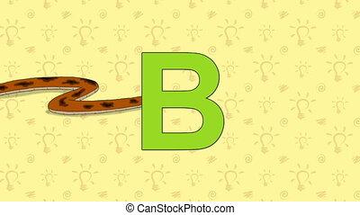 Boa. English ZOO Alphabet - letter B - Animated English ZOO...