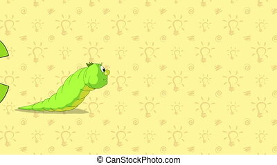 Caterpillar. English ZOO Alphabet - letter C - Animated...