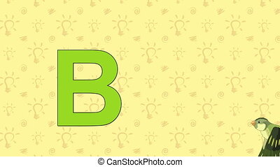 Bird. English ZOO Alphabet - letter B - Animated English ZOO...
