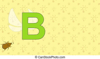 Beetle. English ZOO Alphabet - letter B - Animated English...