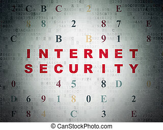 Privacy concept: Internet Security on Digital Data Paper...