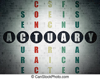 Insurance concept: Actuary in Crossword Puzzle - Insurance...