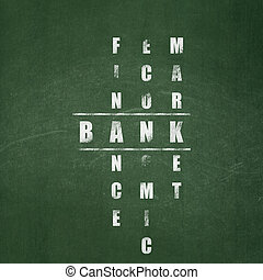 Banking concept: Bank in Crossword Puzzle