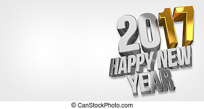 2017 happy new year. 2017 sylvester 3d render