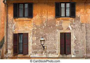 Colorful houses in Trastevere, a typical roman...