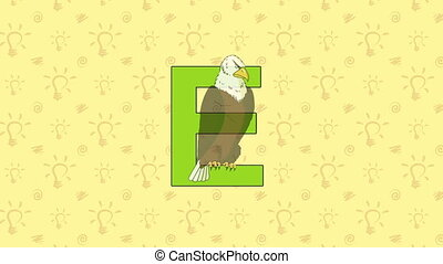 Eagle. English ZOO Alphabet - letter E - Animated English...