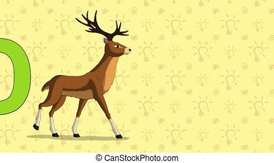Deer. English ZOO Alphabet - letter D - Animated English...