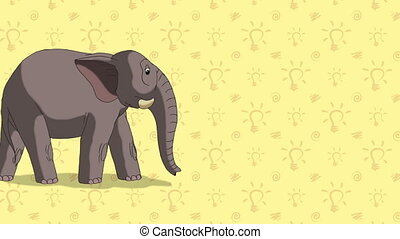 Elephant. English ZOO Alphabet - letter E - Animated English...