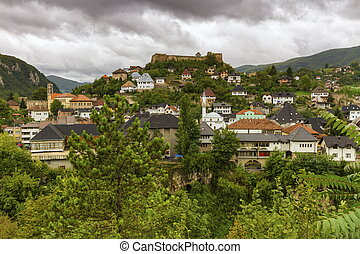 Jajce, Bosnia and Herzegovina - View on Jajce town, Bosnia...