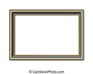 vintage black and golden vector frame - black and golden...