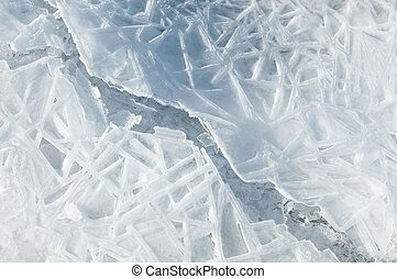 ice - texture.  ice. Frozen ice on the river.