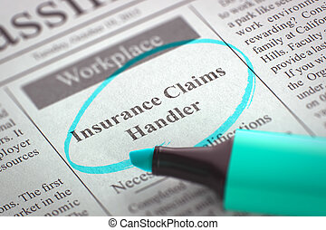 Insurance Claims Handler Join Our Team. 3D. - A Newspaper...