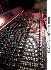 Recording studio - Mixing desk in recording studio.