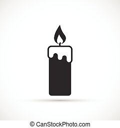 Candle wax and flushing icon