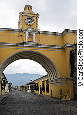 Cloudy day in Antigua, Guatemala.