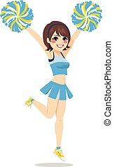 Happy Cheerleader Girl - Happy young cheerleader girl...