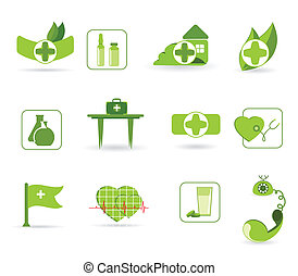 First aid - an icons - Vector icons to subjects medicine and...