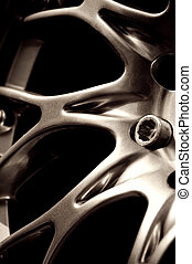 chromed wheel hub