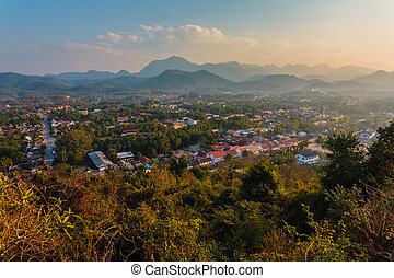 Viewpoint - View from the house in the mountains of Laos.