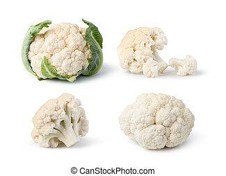 Cauliflower isolated on white background