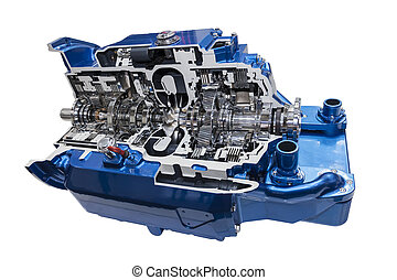 Modern automatic transmission - Cross section of a modern...