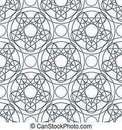 Vector Geometry Seamless Pattern - Geometric seamless...