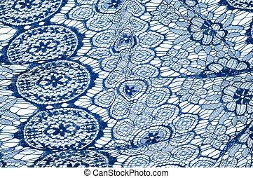 Texture lace fabric. lace on white background studio