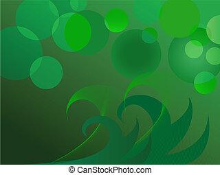 Glittering green lights