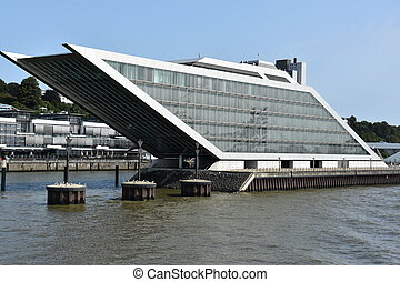 The Dockland Office Building in Hamburg, Germany