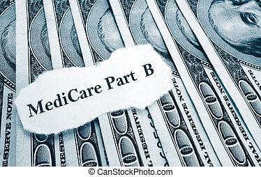 ニュース, 部分, B, 医療保障, お金