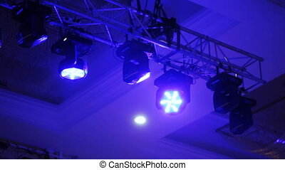 Light equipment on banquet - Rotating light equipment at...