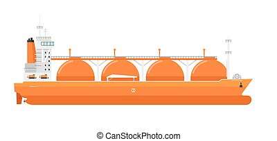 Gas tanker isolated on white background vector illustration....