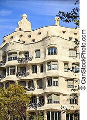 Casa Mila by Antonio Gaudi, Barcelona, Spain