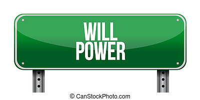 will power street sign concept illustration