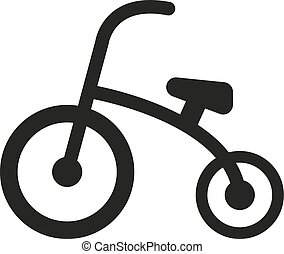 Tricycle icon. design. Bike, bicycle symbol. web. graphic....