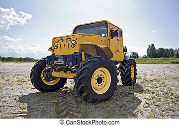Monster truck before competition - Custom built monster...