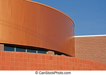 top of commercial building with copper roof
