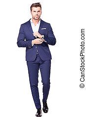 Elegant handsome man in suit.