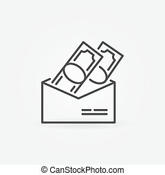 Salary in envelope icon